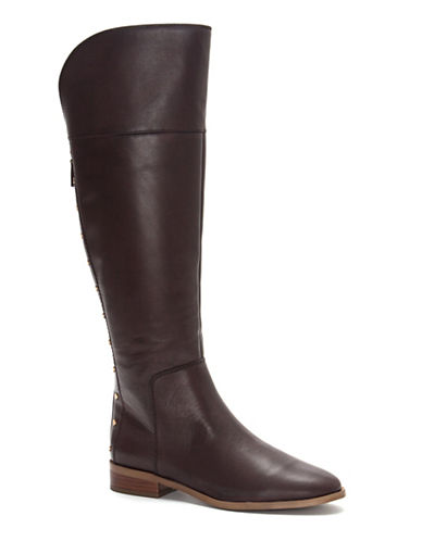 Franco Sarto Roselle Leather Knee-High Boots-BURGUNDY-9.5