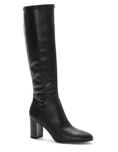 Franco Sarto Leather Knee-High Boots-BLACK LEATHER-8.5