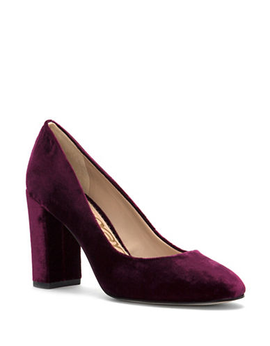 Sam Edelman Stillson Velvet Pumps-PINK-5.5