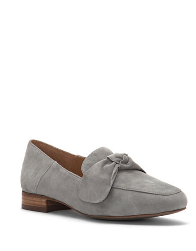 Franco Sarto Abyss Round Toe Suede Loafers-GREY-10