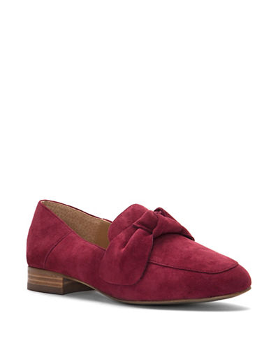 Franco Sarto Abyss Round Toe Suede Loafers-BORDEAUX-8.5