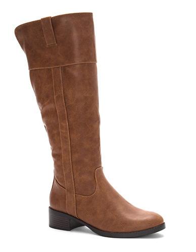 Fergalicious Zephyr Knee-High Boots-COGNAC-7.5