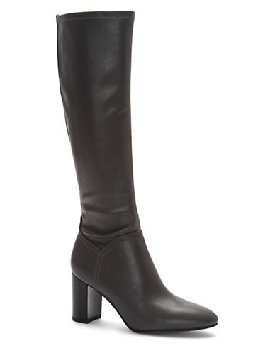 Franco Sarto Round Toe Knee-High Boots-GREY-5.5