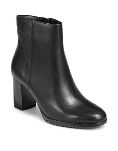 Naturalizer Sadie Leather Booties-BLACK-9
