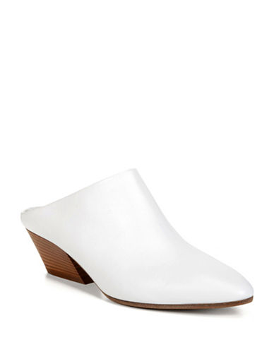Vince Vigo Leather Mules-WHITE-5