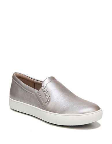 Naturalizer Marianne Leather Sneakers-SILVER FROST-5.5