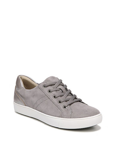 Naturalizer Womens Morrison Sneakers-GREY/SILVER-6.5