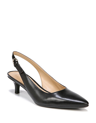 Naturalizer Peyton Leather Sling-Back Pumps-BLACK-9.5
