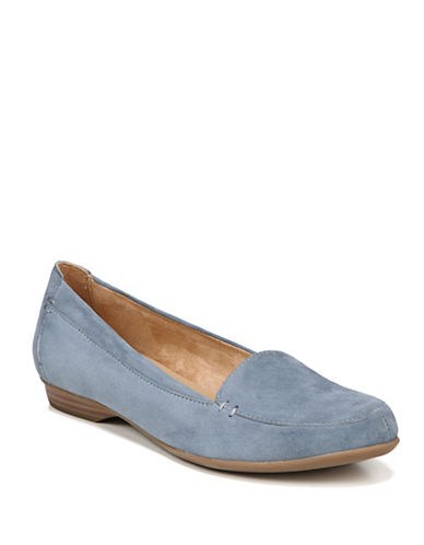 Naturalizer Saban Suede Flats-BLUE-6.5