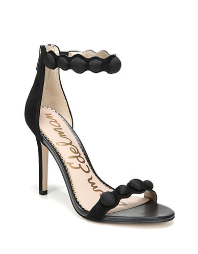 Sam Edelman Addison Suede Ankle-Strap Sandals-BLACK-8.5