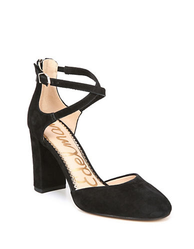 Sam Edelman Simmons Suede Pumps-BLACK-7