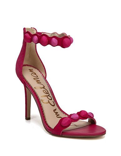 Sam Edelman Addison Suede Ankle-Strap Sandals-PINK-7