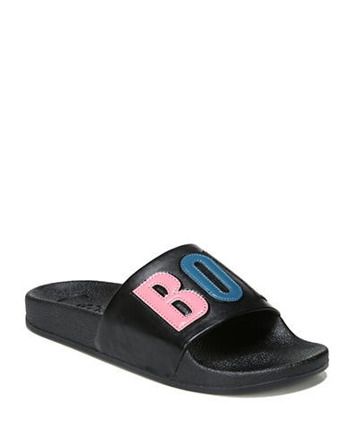Circus By Sam Edelman Flynn Boy Bye Patched Rubber Slides-BLACK-7