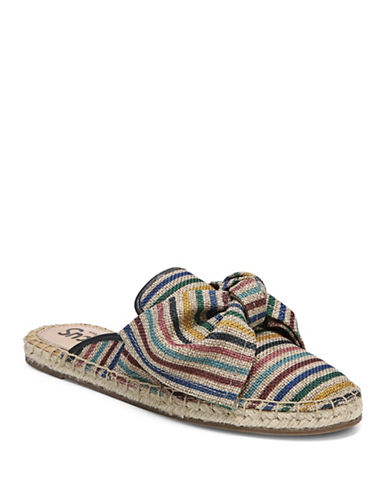 Circus By Sam Edelman Lulu Striped Bow Mules-BROWN-8