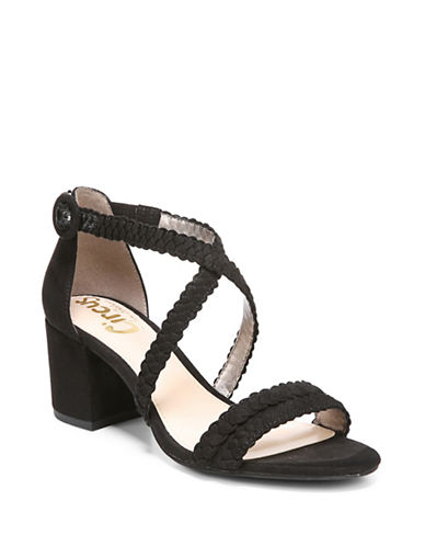 Circus By Sam Edelman Braided Ankle Strap Sandals-BLACK-6.5