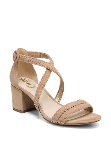 Circus By Sam Edelman Braided Ankle Strap Sandals-BROWN-8.5