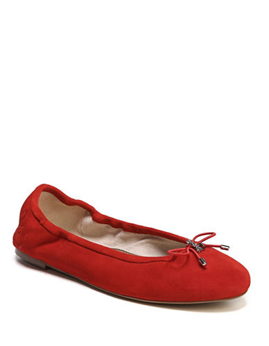 Sam Edelman Felicia Leather Ballet Flats-CANDY RED-6