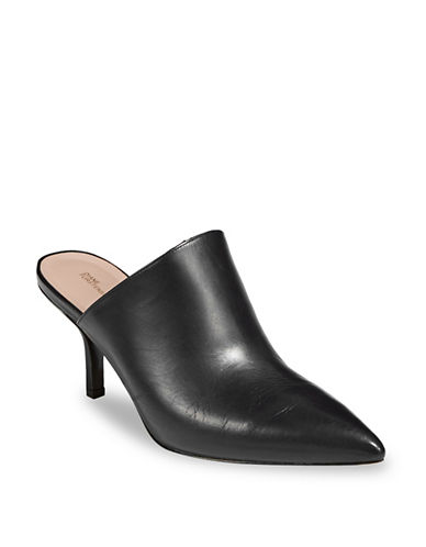 Diane Von Furstenberg Mikaila Leather Mules-BLACK-7