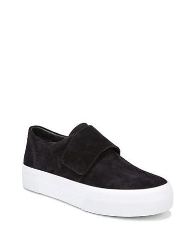 Vince Cage Suede Platform Sneakers-NAVY-9.5