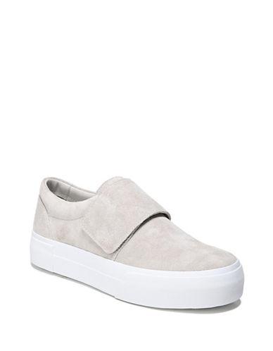 Vince Cage Suede Platform Sneakers-GREY-5