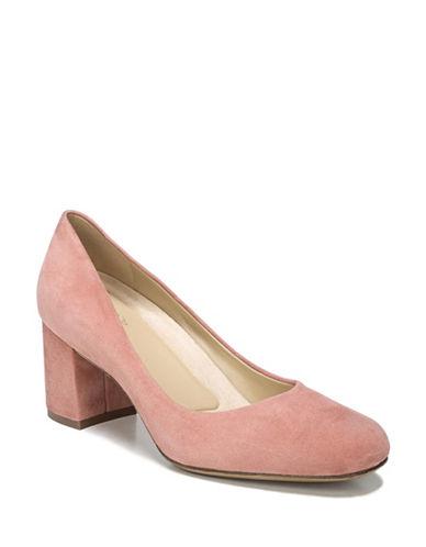 Naturalizer Suede Block Heels-PINK-7