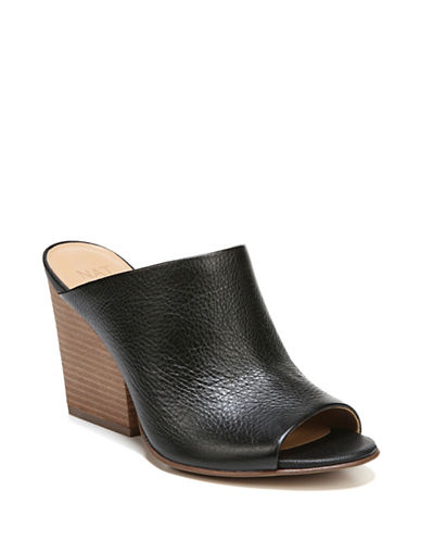 Naturalizer Sloan Leather Mules-BLACK-5.5