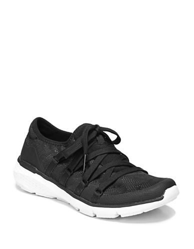 Dr. Scholls Envy Round Toe Sneakers-BLACK-7.5