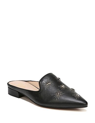 Franco Sarto Embellished Flat Mules-BLACK-7.5