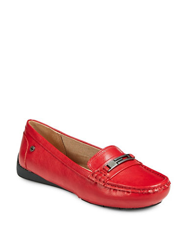 Lifestride Viva Memory Foam Loafers-RED-8.5