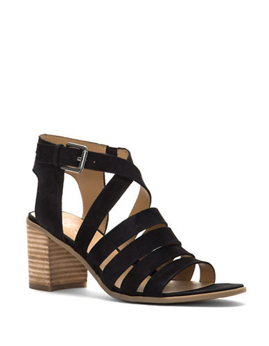 Franco Sarto Hamlet Strappy Leather Sandals-BLACK-7