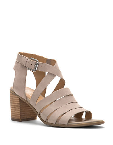 Franco Sarto Hamlet Strappy Leather Sandals-CASHMERE-7