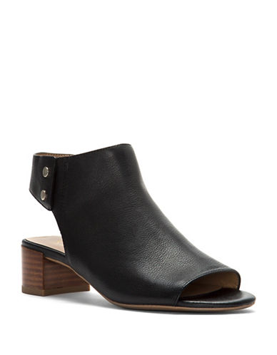 Franco Sarto Rikki Open Toe Booties-BLACK-9