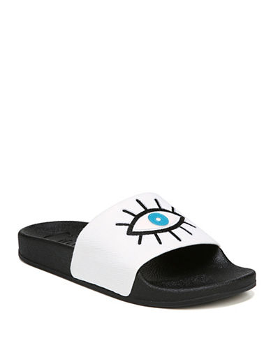 Circus By Sam Edelman Fynn Eye-Embroidered Rubber Slides-MULTI-9