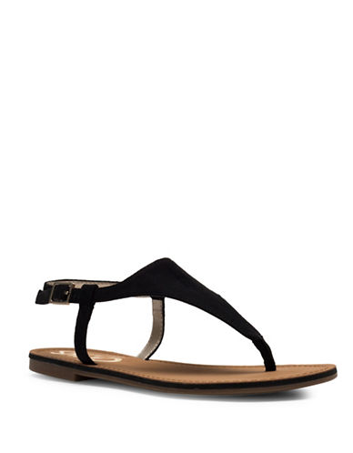 Circus By Sam Edelman Bianca Microsuede Flat Sandals-BLACK-6
