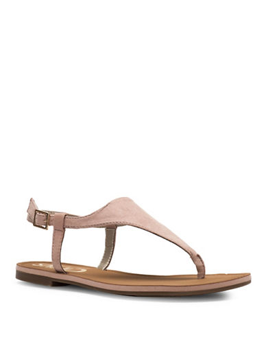 Circus By Sam Edelman Bianca Microsuede Flat Sandals-NUDE-8