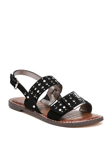 Sam Edelman Glade Studded Sandals-BLACK-7.5