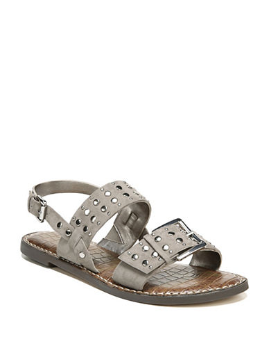 Sam Edelman Glade Studded Sandals-GREY-8.5