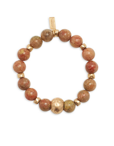 Canvas Unakite Stretch Bracelet-BROWN-One Size