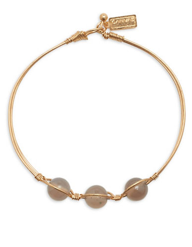 Canvas Wired Bangle Bracelet-BROWN-One Size