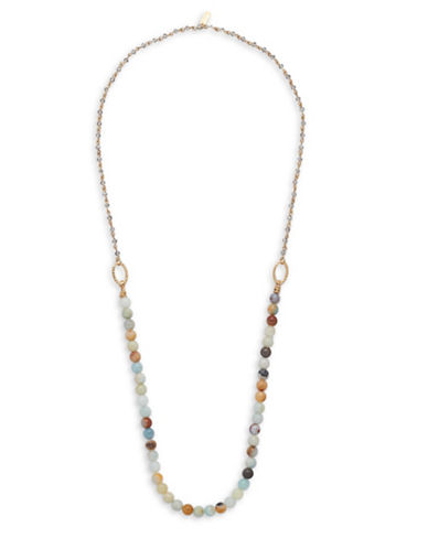 Canvas Natural Elements Amazonite Beaded Layering Necklace-MULTI-One Size