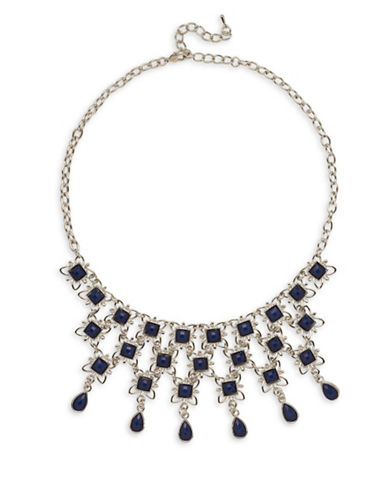 Garbo Faceted Floral Necklace-BLUE-One Size