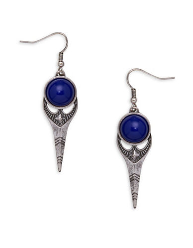 Garbo Spear Drop Earrings-BLUE-One Size