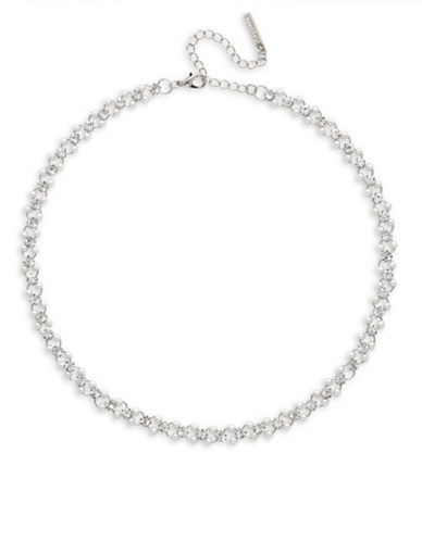 Cezanne Mesh Necklace-SILVER-One Size