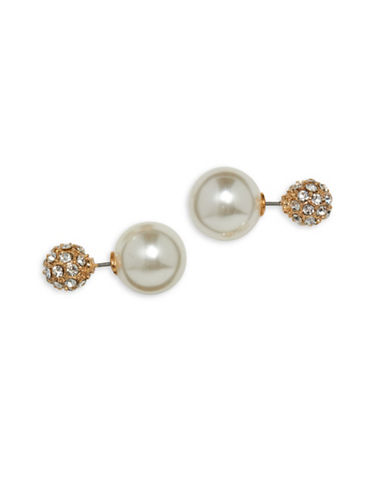 Cezanne Fireball Front-Back Earrings-BEIGE-One Size