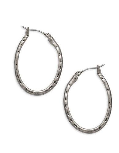 Garbo 1.25 inch Hoop Earrings-SILVER-One Size