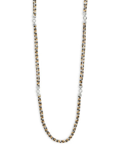 Nine West Two-Row Multitone Necklace-MULTI-One Size