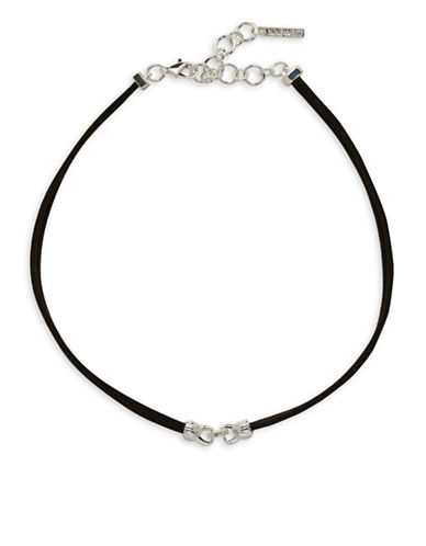 Nine West Steel Show Necklace-SILVER-One Size
