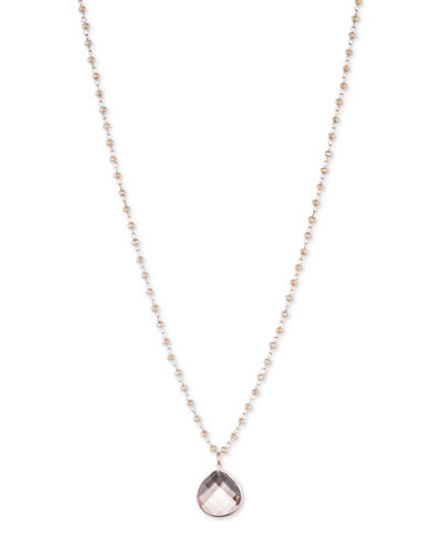 Lonna & Lilly Teardrop Pendant Necklace-ROSE GOLD-One Size