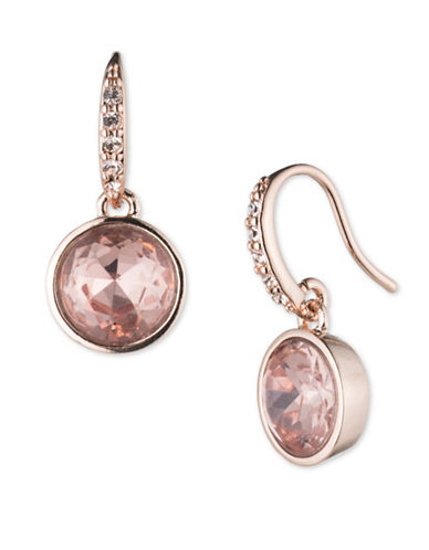 Lonna & Lilly Rose-goldtone Drop Earrings-ROSE GOLD-One Size
