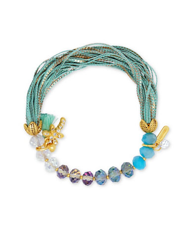 Lonna & Lilly Hanging Blossoms Stretch Bracelet-BLUE-One Size